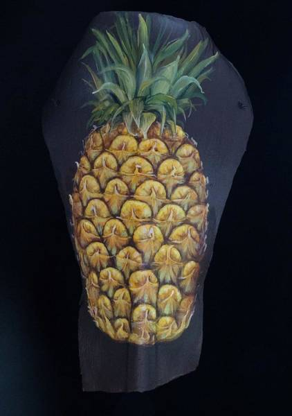 Painting - Pineapple Palm by Nancy Lauby