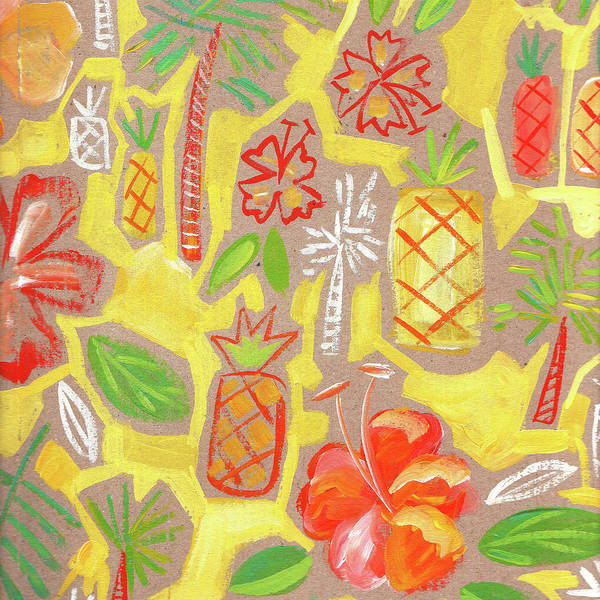 Wall Art - Painting - Pineapple Sunset by Kristy Lankford