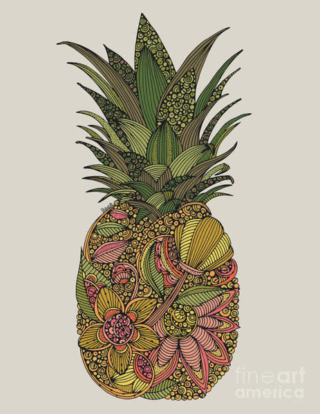 Pineapples Digital Art - Pineapple by MGL Meiklejohn Graphics Licensing