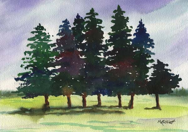 Pine Forest Painting - Piney Woods by Marsha Elliott