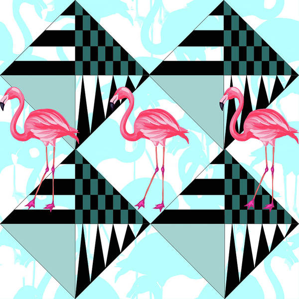 Pink Digital Art - Ping Flamingo by Mark Ashkenazi