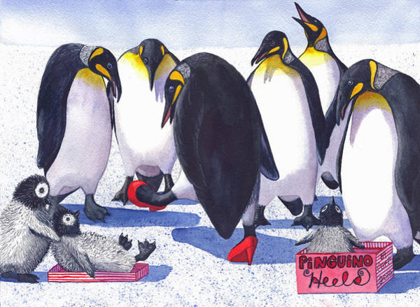 Painting - Pinguino Heels by Catherine G McElroy