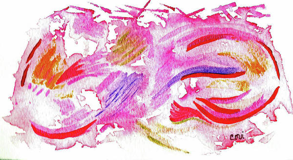 Painting - Pink Abstract by Corinne Carroll