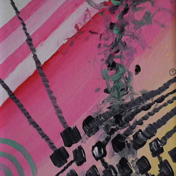 Painting - Pink Abstract by Thomas Olsen