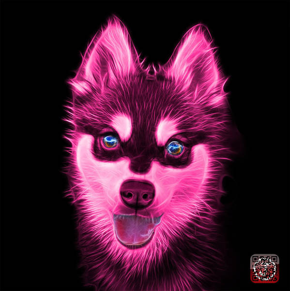Painting - Pink Alaskan Klee Kai - 6029 -bb by James Ahn