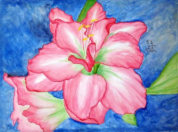 Amaryllis Painting - Pink Amaryllis by Betty Lee Guyer