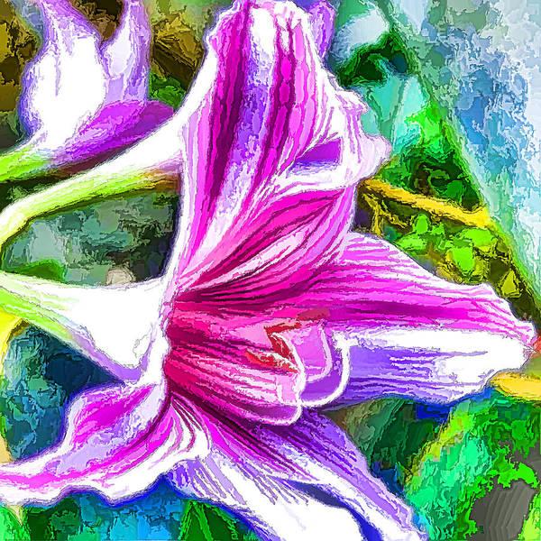 Amaryllis Painting - Pink Amaryllis Flower by Jeelan Clark