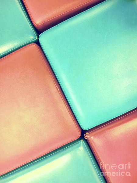 Rustic Furniture Photograph - Pink And Blue Leather by Tom Gowanlock