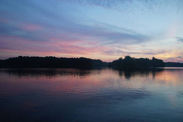 Photograph - Pink And Blue Skies At Deer Creek by Mike Murdock
