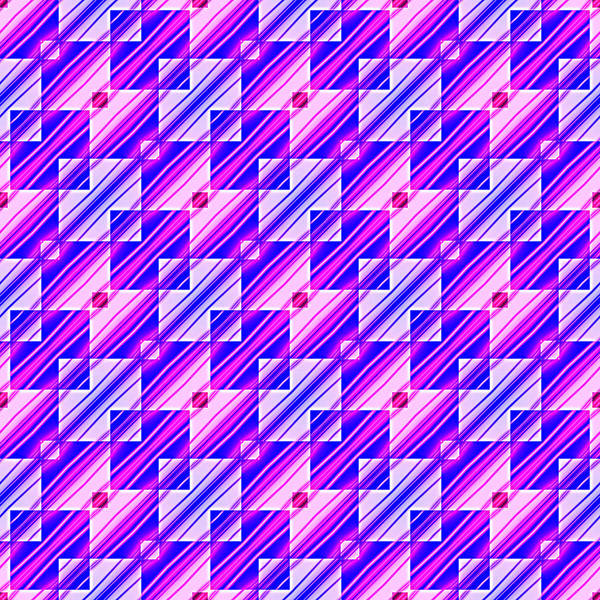 Digital Art - Pink And Blue Squares And Stripes by Ruth Moratz