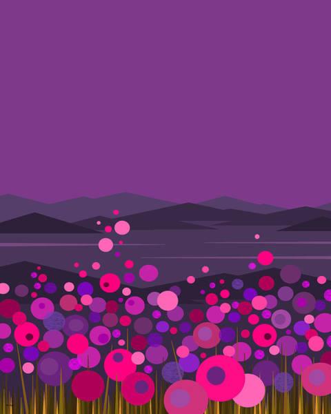 Digital Art - Pink And Purple Flowers II by Val Arie