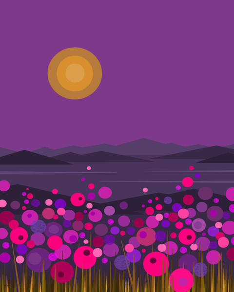 Digital Art - Pink And Purple Flowers by Val Arie
