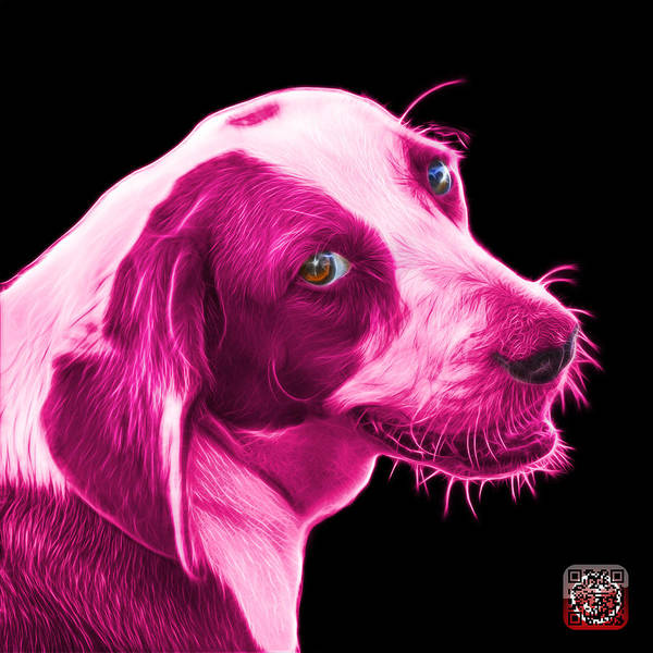Painting - Pink Beagle Dog Art- 6896 - Bb by James Ahn