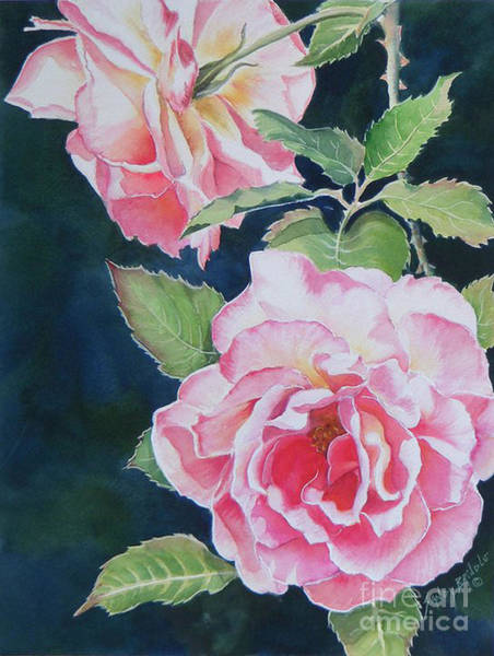 Painting - Pink Beauties  Sold  Original by Sandy Brindle