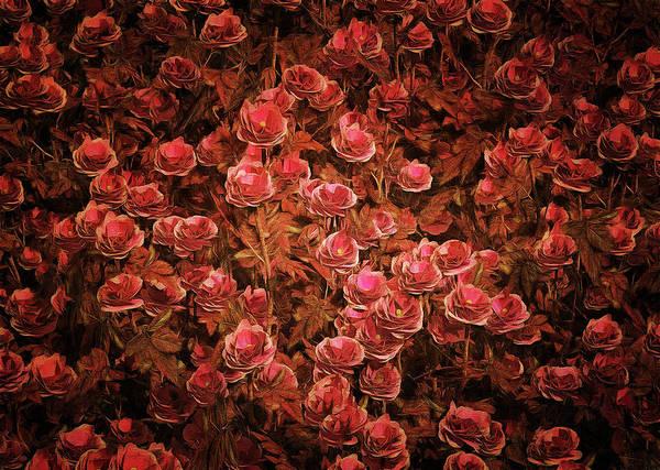 Painting - Pink Bionica Roses by Jan Keteleer
