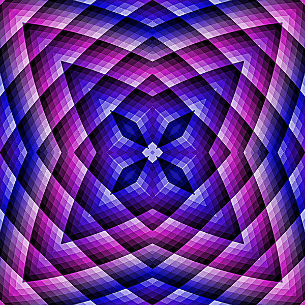 Digital Art - Pink Blue And Purple Abstract 03 by Ruth Moratz