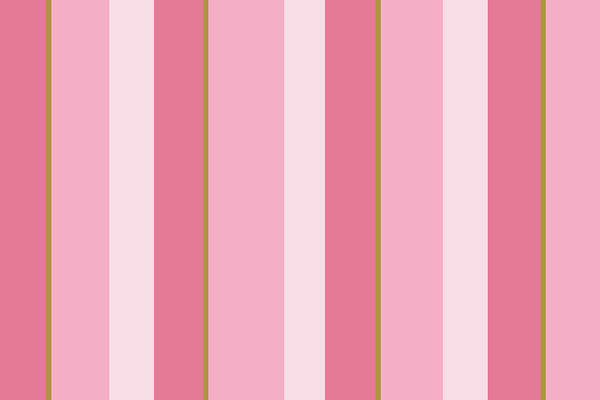 Wall Art - Mixed Media - Pink Blush Stripe Pattern by Christina Rollo