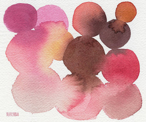 Wall Art - Painting - Pink Brown Coral Abstract Watercolor by Beverly Brown
