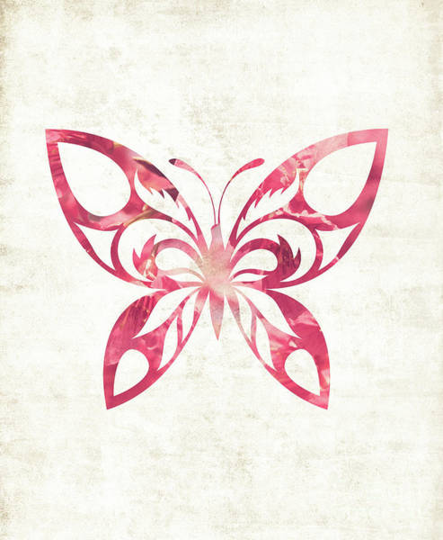 Photograph - Pink Butterfly by Andrea Anderegg