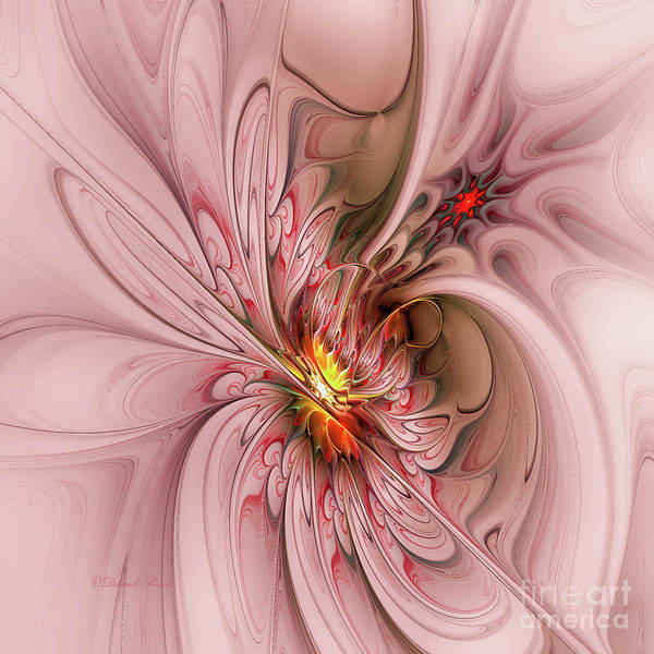 Digital Art - Pink Butterfly by Deborah Benoit
