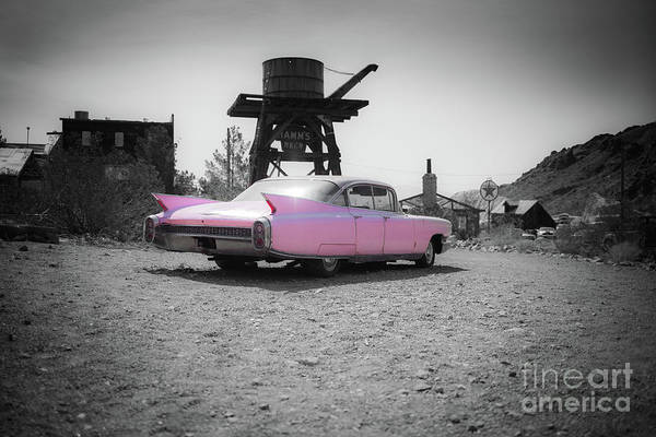 Wall Art - Photograph - Pink Caddy In The Desert by Edward Fielding