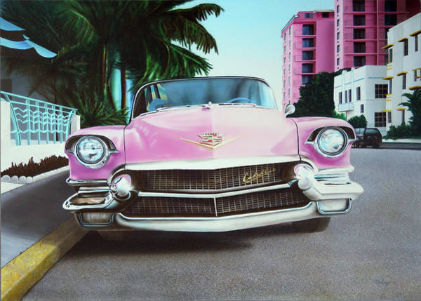 Wall Art - Painting - Pink Caddy by John Salozzo