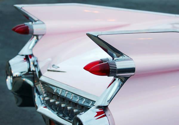 Photograph - Pink Cadillac Eldorado Tail Fin by Jill Reger