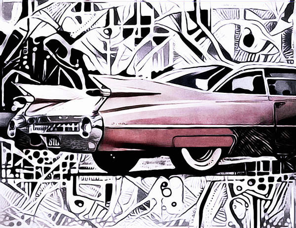 Photograph - Pink Cadillac by Susan Maxwell Schmidt