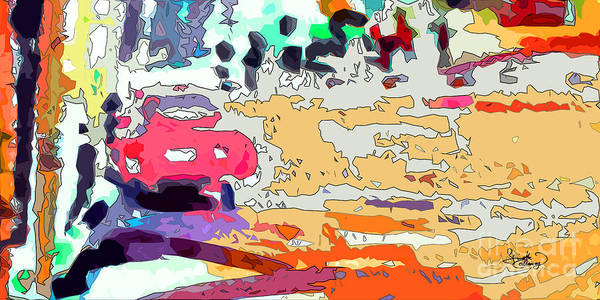 Painting - Pink Car Urban Graffiti by Ginette Callaway