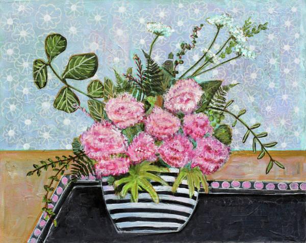 Wall Art - Painting - Pink Carnation by Blenda Studio