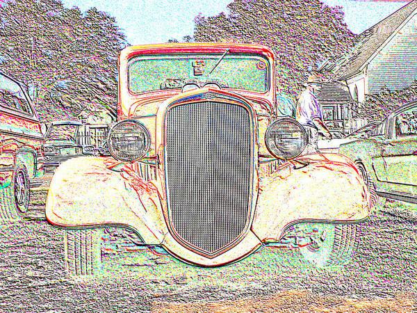 Digital Art - Pink Chevy Pickup  by Kathy K McClellan