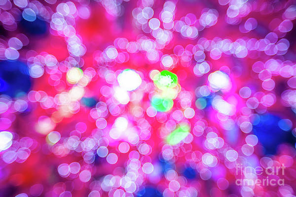 Photograph - Pink Christmas Lights by Benny Marty