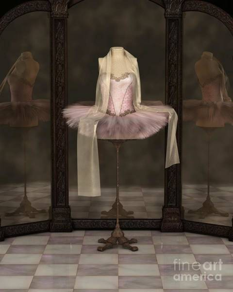 Dummy Digital Art - Pink Classical Ballet Tutu Reflections by Fairy Fantasies