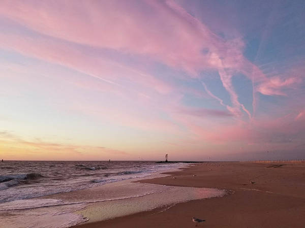 Photograph - Pink Clouds Over The Inlet by Robert Banach