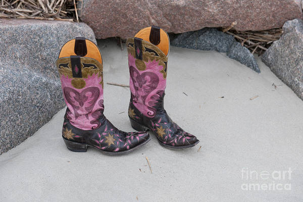 Photograph - Pink Cowgirl Boots by Dale Powell