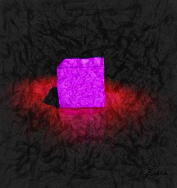 Photograph - Pink Cube by Joan Reese