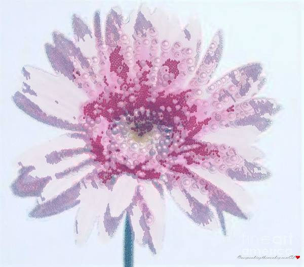 Painting - Pink Daisy Pearlesque by Catherine Lott