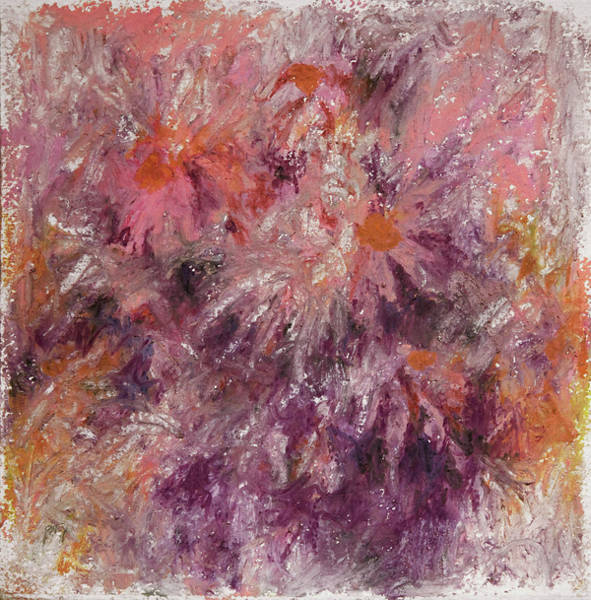 Hallucination Painting - Pink Daisy by Rachel Christine Nowicki