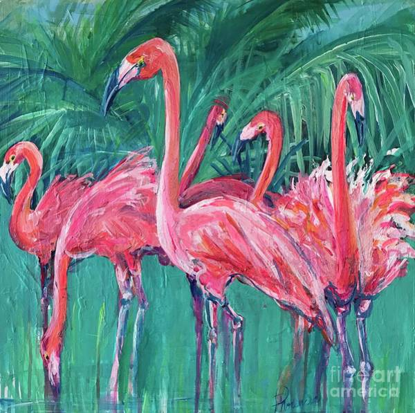 Painting - Pink Dancers  by Denise Morencie
