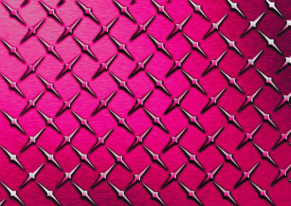 Fashion Plate Digital Art - Pink Diamond Plate  by Mark Moore