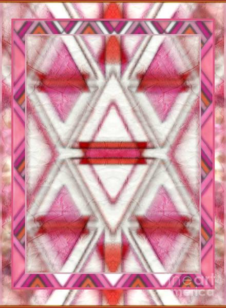 Mixed Media - Pink Diamonds by Wbk