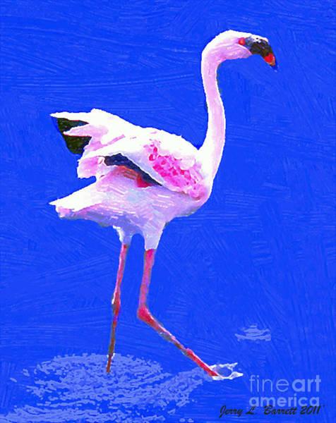 Mixed Media - Pink Flamingo by Jerry L Barrett
