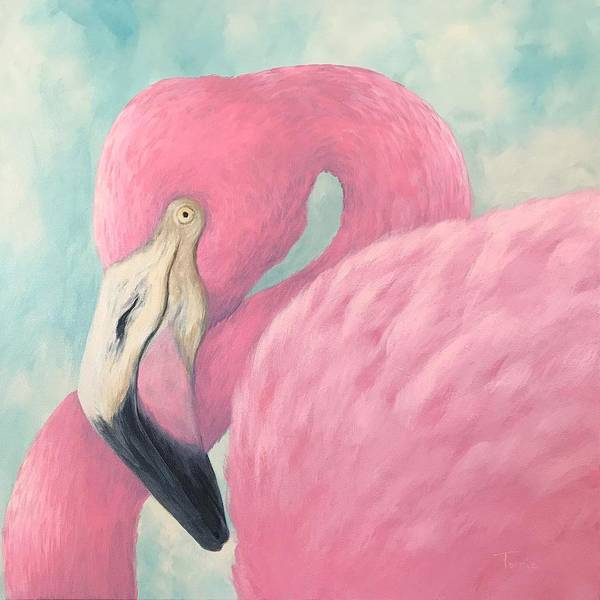 Bird Wall Art - Painting - Pink Flamingo V by Torrie Smiley