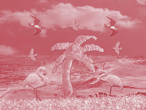 Photograph - Pink Flamingo's Palms by Rockin Docks Deluxephotos