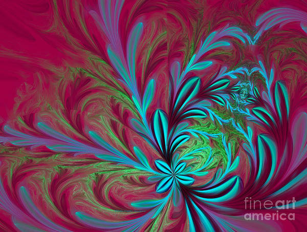 Digital Art - Pink Floral Delight by Deborah Benoit