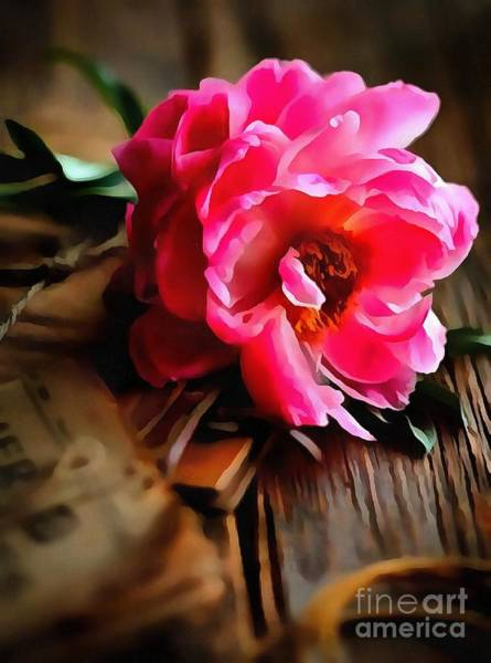 Painting - Pink Floral Painting Interior Design On Canvas  by Catherine Lott