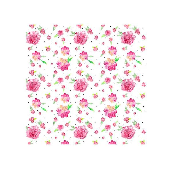 Painting - Pink Flower Pattern by Ekaterina Chernova