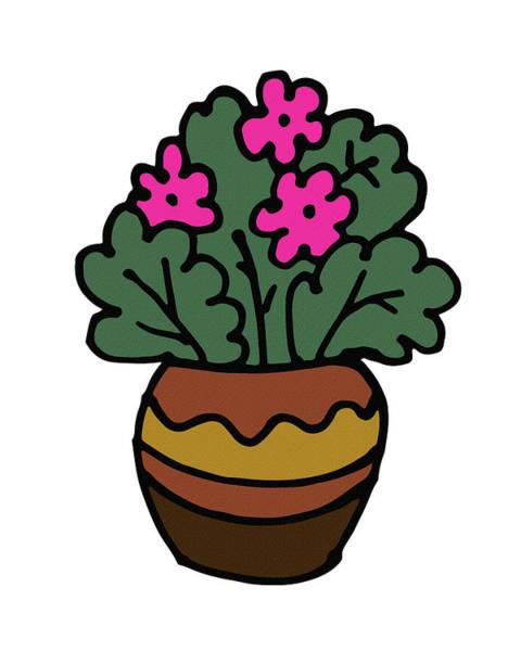 Digital Art - Pink Flowers Plant Illustration by Irina Sztukowski