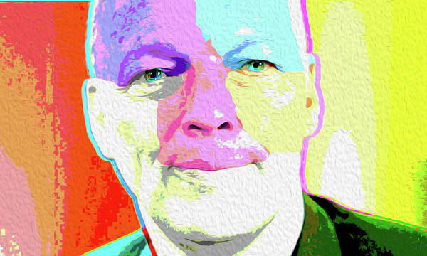 David Gilmour Painting - Pink Floyd 3773,gilmour By Nicholas Nixo Efthimiou by Never Say Never