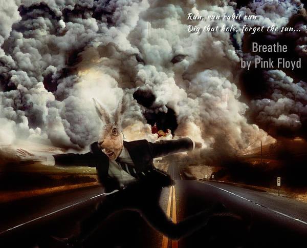 Voices Digital Art - Pink Floyd Breathe by Yury Malkov